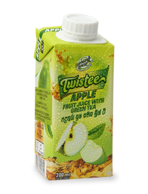 Elephant House Twistee apple flavoured green tea 200 ml