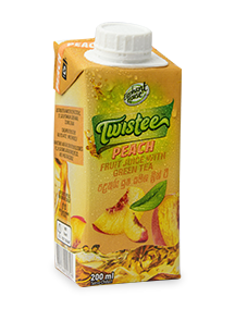 Elephant House Twistee Peach flavoured green tea 200 ml