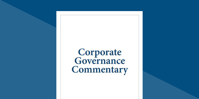 Corporate Governance <br/>Commentary Report - 2020