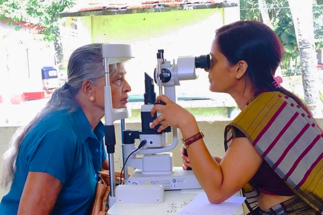Eye care camps for cataract treatment