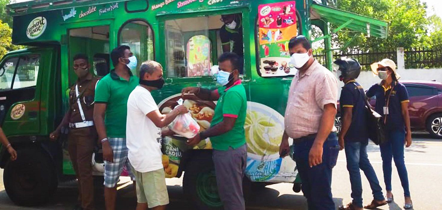 Essential food items distribution during COVID - 19 outbreak