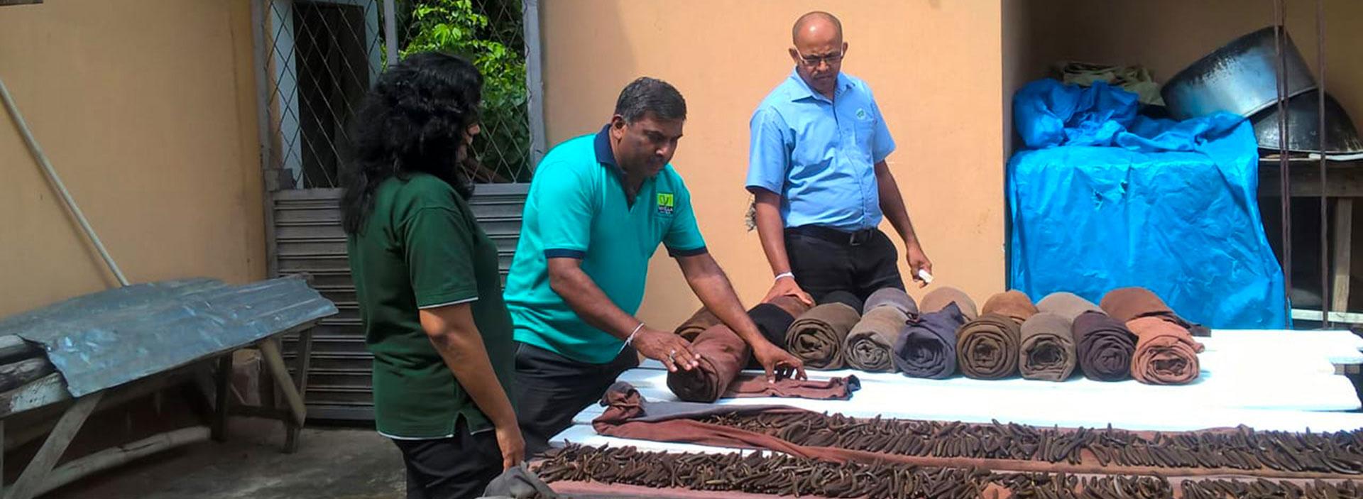 Providing technical assistance to Sri Lankan vanilla farmers